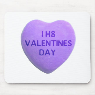 I Hate Valentines Day Purple Candy Heart Mouse Pad