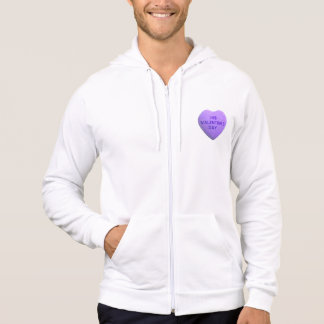 I Hate Valentines Day Purple Candy Heart Shirts