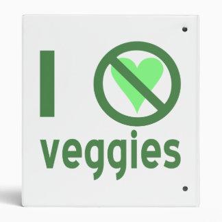 I Hate Veggies Vinyl Binders