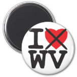 I Hate WV - West Virginia Refrigerator Magnet
