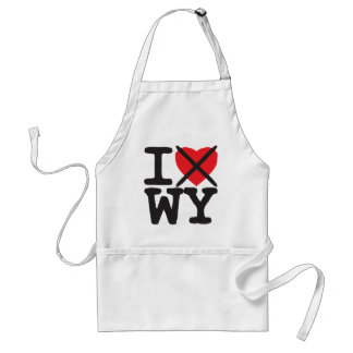 I Hate WY - Wyoming Adult Apron