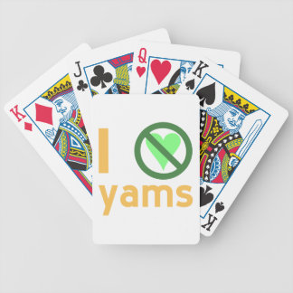 I Hate Yams Bicycle Playing Cards