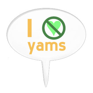 I Hate Yams Oval Cake Toppers