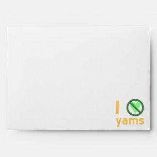 I Hate Yams Envelope