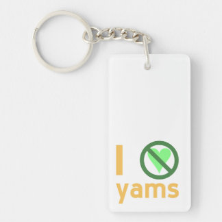 I Hate Yams Keychain