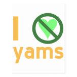 I Hate Yams Postcard