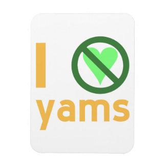 I Hate Yams Flexible Magnet
