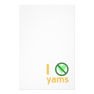 I Hate Yams Stationery
