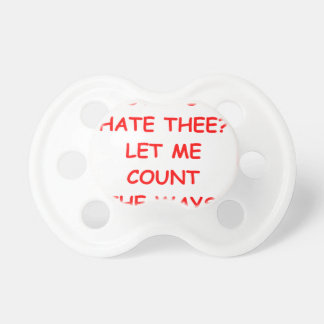 i hate you BooginHead pacifier
