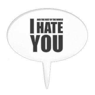 i hate you cake picks