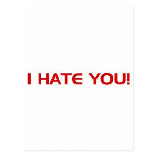I Hate You!  - Emo Alternative Grunge Rock Punk Post Cards