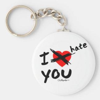 I hate you key chain