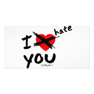 I hate you photo greeting card