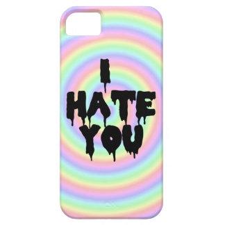 """I Hate You"" Rainbow Swirl Case iPhone 5 Cover"