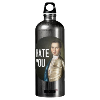 I Hate You - Trendium Art Captions Aluminum Water Bottle