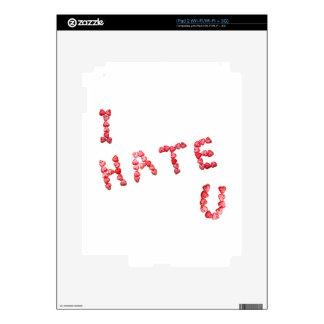 I Hate You - Written In Hearts iPad 2 Skin