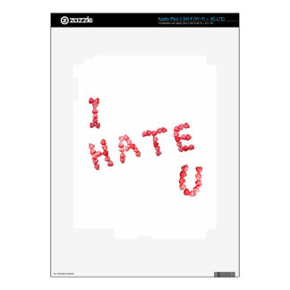 I Hate You - Written In Hearts iPad 3 Decal