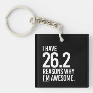 I have 26-2 reasons why I'm awesome -   Running Fi Keychain