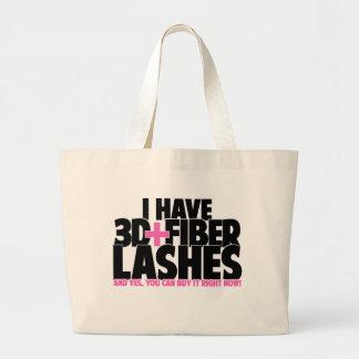 I have 3d + Fiber Lashes Jumbo Tote Bag