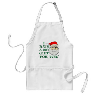 I Have A Big Gift For You Santa Claus Apron