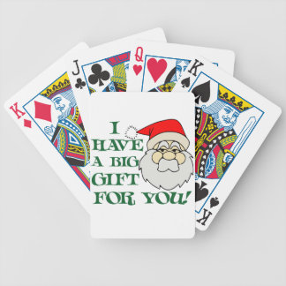 I Have A Big Gift For You Santa Claus Bicycle Playing Cards