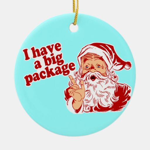 I Have A Big Package Santa Christmas Tree Ornament