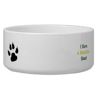 I Have A Brazilian Heart Dog Water Bowl