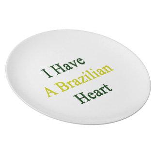 I Have A Brazilian Heart Dinner Plate