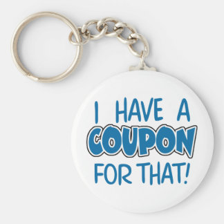 I have a coupon for that! keychain