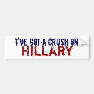 I Have a Crush on Hillary Car Bumper Sticker