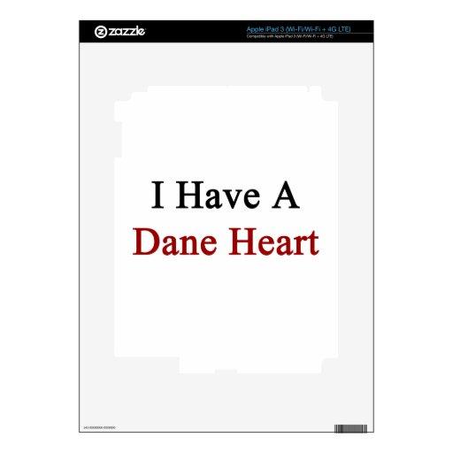 I Have A Dane Heart iPad 3 Skins