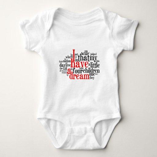 I Have a Dream in Tagxedo Baby Bodysuit