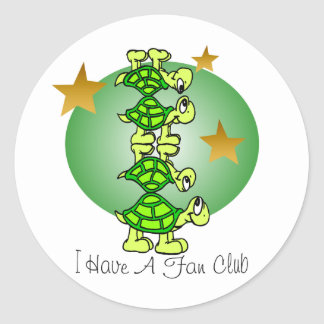 I Have A Fan Club Classic Round Sticker