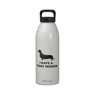 I Have A Furry Wiener Water Bottles