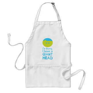 I Have a Giant Head Adult Apron