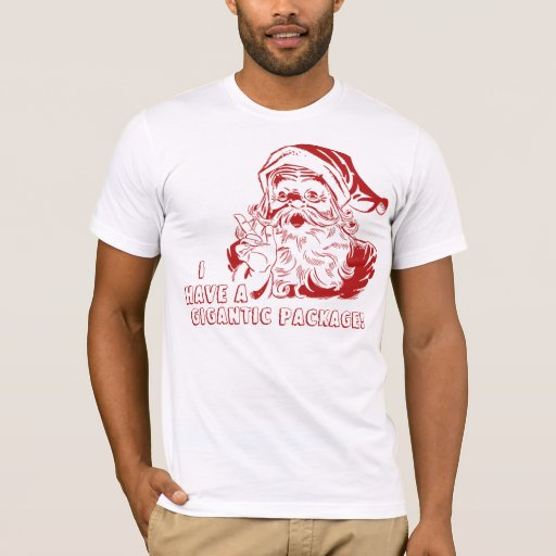 I have a gigantic package, Santa Claus T-Shirt