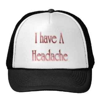 I Have A Headache Red Mesh Hat