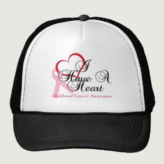 I Have A Heart Childhood Cancer Awareness Trucker Hat