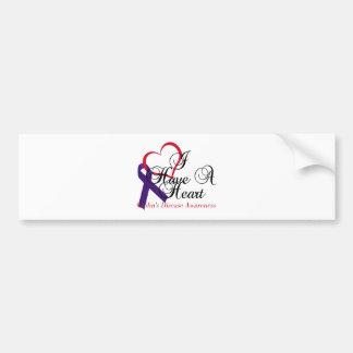 I Have A Heart Crohn's Disease Awareness Bumper Sticker