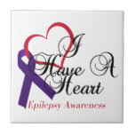 I Have A Heart Epilepsy Awareness Ceramic Tiles