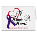 I Have A Heart Epilepsy Awareness Greeting Card