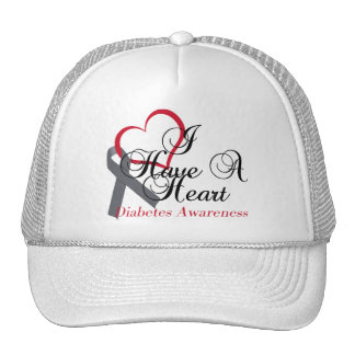 I Have A Heart For Diabetes Awareness Trucker Hat