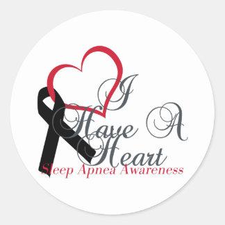 I Have A Heart For Sleep Apnea Awareness Classic Round Sticker