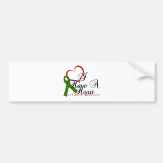 I Have A Heart Liver Cancer Awareness & Support Bumper Sticker