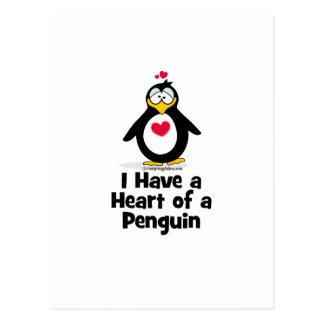 I Have A Heart of a Penguin Postcard