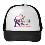 I Have A Heart Stop Animal Abuse Mesh Hats