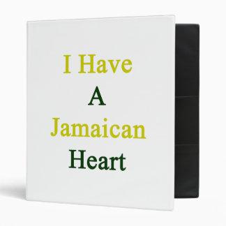 I Have A Jamaican Heart Vinyl Binders