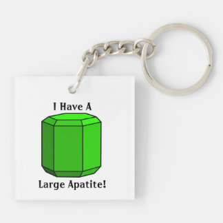 I Have a Large Apatite! Double-Sided Square Acrylic Keychain
