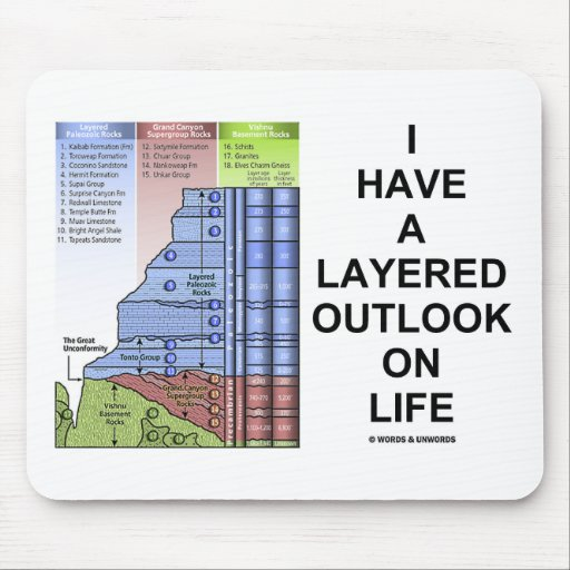 I Have A Layered Outlook On Life (Geology Humor) Mousepad