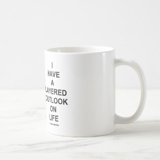 I Have A Layered Outlook On Life (Geology Humor) Classic White Coffee Mug